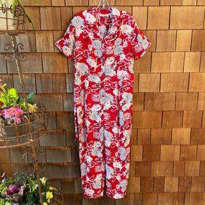 NWT Vintage Floral Jumpsuit in Women's Large
